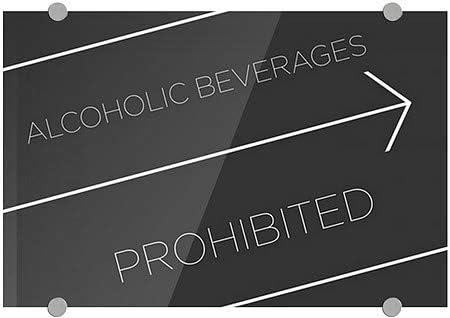 5-Pack Ghost Aged Rust Premium Brushed Aluminum Sign CGSignLab Alcoholic Beverages Prohibited 24x6