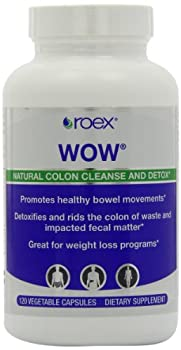Roex WOW Body Cleanser Vegetarian Capsules, 120 Count