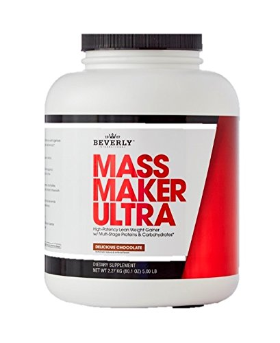 Lean Mass Chocolate - Beverly International Mass Maker Ultra Chocolate, 23 Servings. Strongmen and Mass Monsters Swear by This Lean Weight Gainer.