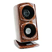 [New Upgraded Design] Versa Automatic Double Watch Winder in Burlwood