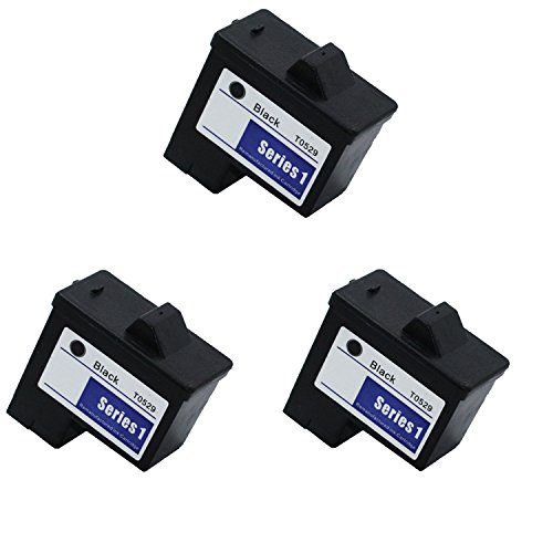 A920 Black Ink - 3 Pack Compatible T0529 Black Ink Cartridge For Dell Printer A920 & Dell Printer 720