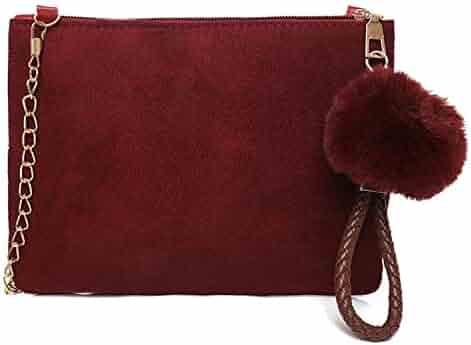 f6cab2d50943 Shopping Suede - Reds - Shoulder Bags - Handbags & Wallets - Women ...