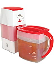 Mr. Coffee Fresh Tea Iced Tea Maker, 3-Quart Capacity, Dishwasher-Safe Pitcher.
