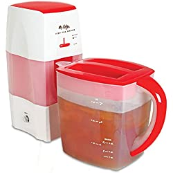 Mr. Coffee Fresh Tea Iced Tea Maker, 3-Quart Capacity, Dishwasher-Safe Pitcher.