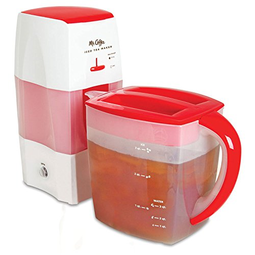 - Mr. Coffee Fresh Tea Iced Tea Maker, 3-Quart Capacity, Dishwasher-Safe Pitcher.