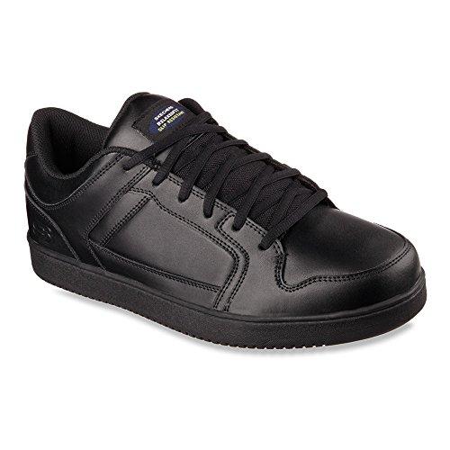 Skechers Mens Work Relaxed Fit Ossun Slip Resistant Sneaker,Black,US 11 M