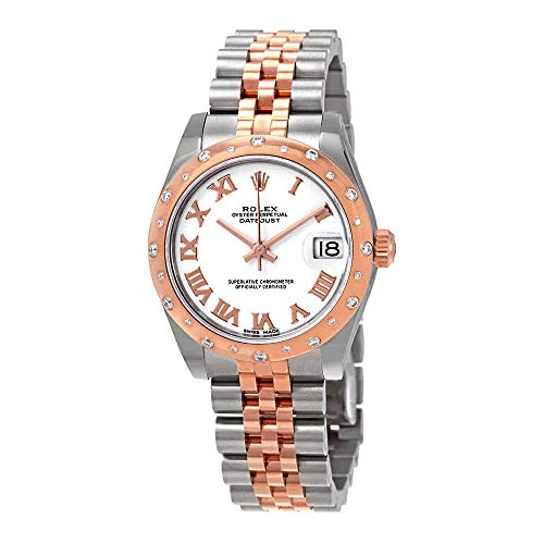 - Rolex Datejust 31 White Dial Ladies Steel and 18kt Everose Gold Jubilee Watch 178341WRJ