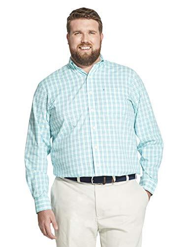 - IZOD Men's Big and Tall Button Down Long Sleeve Stretch Performance Plaid Shirt, Florida Keys, 3X-Large