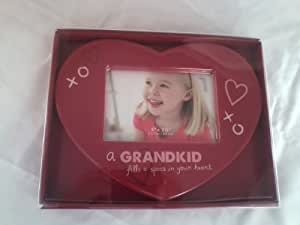 "St. Nicholas Square Heartshaped Picture Frame ""A Grandkid Fills a Space in Your Heart"""