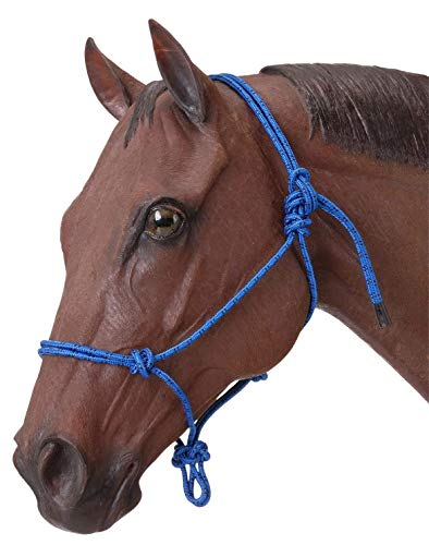 TGW RIDING Horse Poly Rope Tied Halter