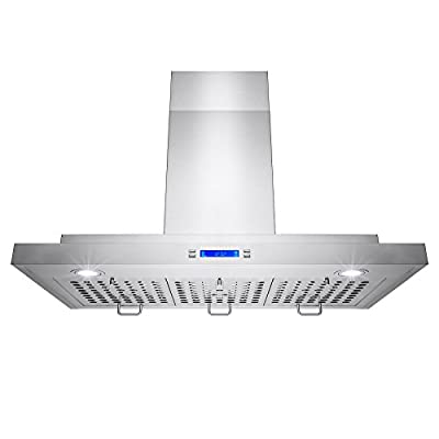 "Golden Vantage® 30"" Inch Convertible Stainless Steel Wall Mount Range Cooker Hood Fan Oven Vent Exhaust With LCD Display Electronic Push Button Controls LED Light Lamp Baffle Filters"