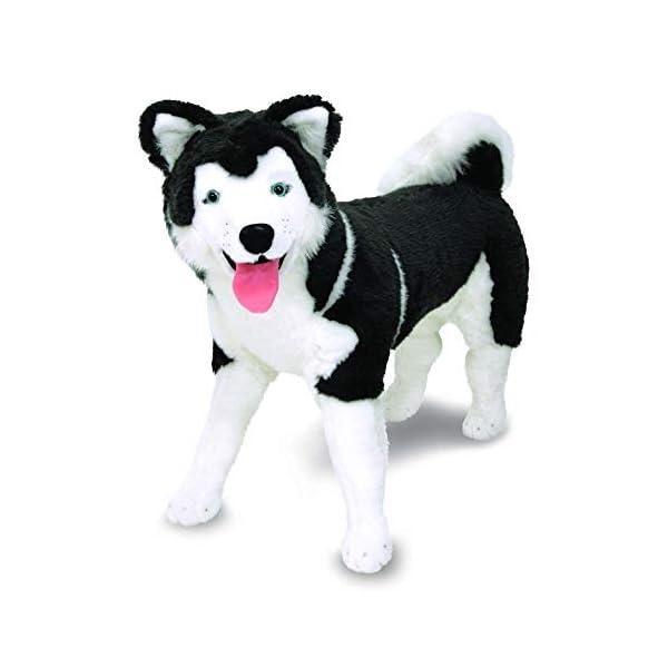 Melissa & Doug Giant Siberian Husky - Lifelike Stuffed Animal Dog (Over 2 Feet Tall, Great Gift for Girls and Boys - Best for 3, 4, 5, and 6 Year Olds) 3