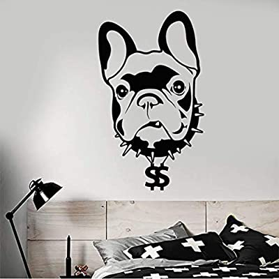 Pbbzl Pet Home Animal Dog Bulldog Francés Vinilo Tatuajes De Pared ...