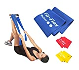 Resistance Exercise Band   2m Length   3 Flex Options   For Women and Men   Pilates - Yoga - Injury Rehabilitation - Stretching - Strength Training   10% Multi-buy Discount