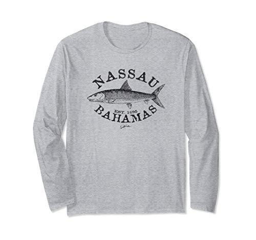 JCombs: Nassau, Bahamas, Bonefish (Distressed) Long Sleeve T-Shirt