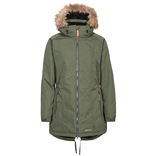 Jacket Removable Hood Trespass Women's Waterproof Celebrity Warm with Moss 1nRHC6qw