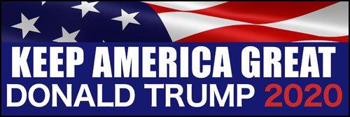 Flag 20 KAG pro American Vinyl Keep America Great Donald Trump 2020 Bumper Sticker