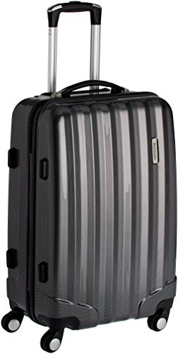 Airmate Polycarbonate 55 cms Black Hard sided Suitcase (AM012)