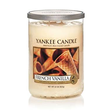 Yankee Candle French Vanilla Large 2-Wick Tumbler Candle, Food & Spice Scent