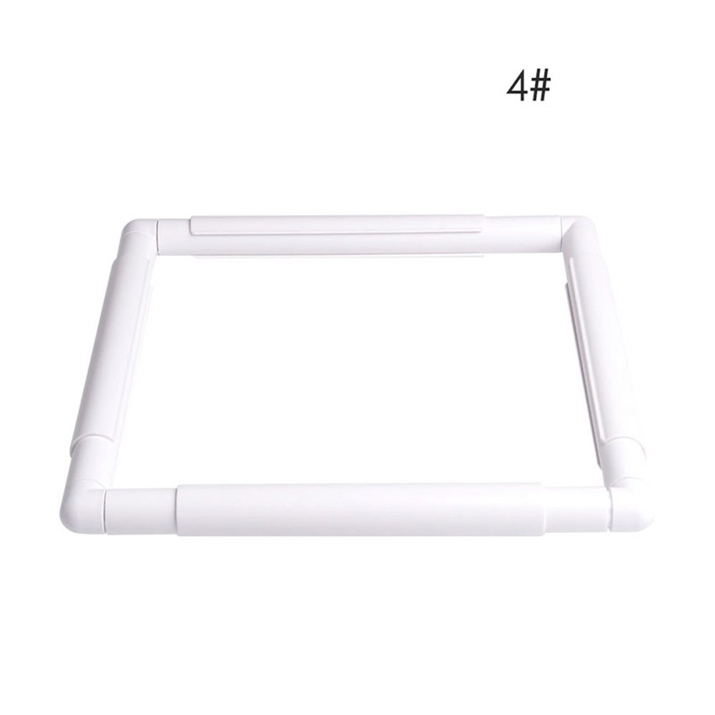 Dairyshop Square Rectangle Clip Plastic Embroidery Frame Cross Stitch Hoop Stand Lap Tool 10.98*10.98