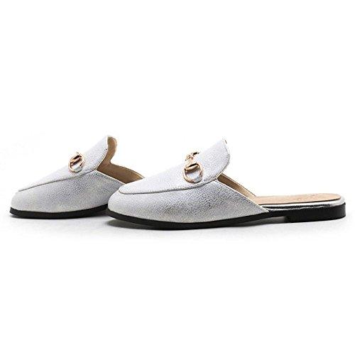 Femmes Bout White Mules Razamaza Mode Ferme Y0dq0wE