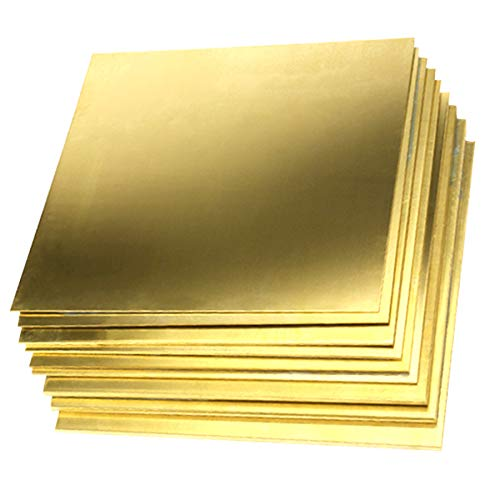 HATCHMATIC 1pc 0.8mm x 100mm x 100mm Brass Copper Plate Sheet Generic