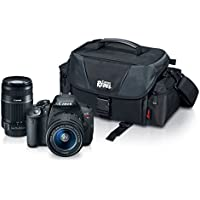 Canon EOS Rebel T5i with EF-S 18-55mm f/3.5-5.6 IS II Lens, EF-S 55-250mm f/4.0-5.6 IS II Telephoto Zoom Lens and Rebel Gadget Bag