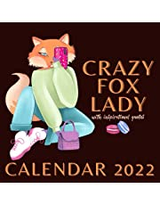 Crazy Fox Lady Calendar 2022: With Inspirational Quotes Monthly Planner Mini Calendar