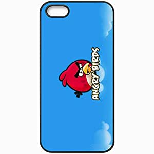 Personalized iPhone 5 5S Cell phone Case/Cover Skin Angry Birds Black by lolosakes