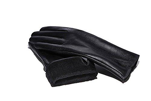 そっと顕現主導権ModaミラノレディースMS Genuineレザー総裏地付き冬手袋