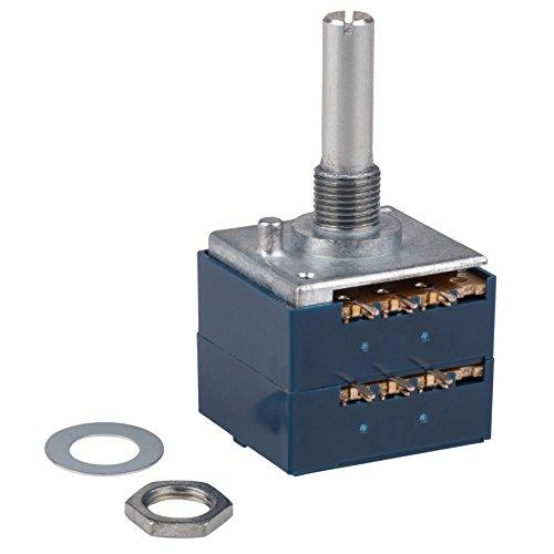 00KAX2 100K Ohm Audio Taper Stereo Potentiometer 6mm Shaft ()