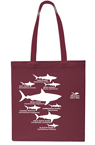 Shark x38cm Maroon 42cm Navy Shopping Bag 10 Gym Beach Small Hierarchy Tote Diving litres Diver rwrp6T