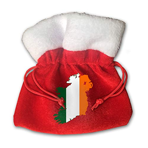 CYINO Personalized Santa Sack,Flag Map of United Ireland