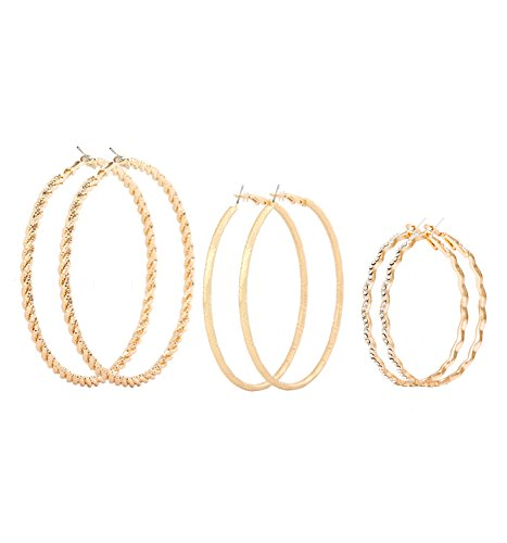 8b83160776d8c VUJANTIRY Triple Hoop Earrings for [...]