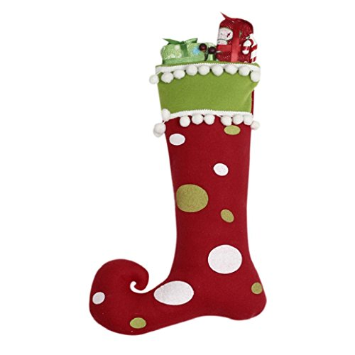 AMA(TM) Christmas Tree Hanging Boots Socks Decor Santa Festival Party Ornaments (red)