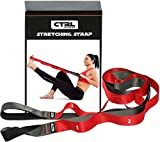 Stretching Strap With Loops to Increase Flexibility for Physical Therapy and Yoga + eBook & Exercise Instructions & Carry Bag by CTRL Sports For Sale