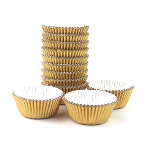 Xlloest Premium Mini Foil Baking Cups, Cupcake Liners Paper, Pack of -