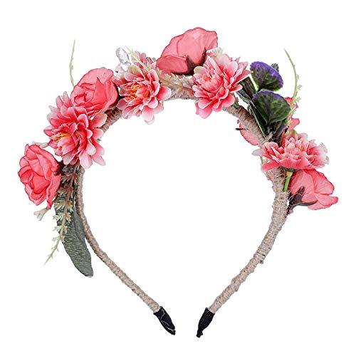 Wreath Headband 2019 Hair Ornaments Wedding Flowers Bride Floral Crown Party Hemp Rope Decor Princess Wreath Headpiece Spring,2546B