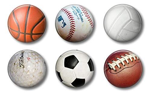 (Sports Magnets - Locker Magnets For Boys - Football, Basketball, Soccer, Volleyball, Golf, Baseball )