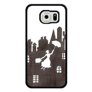 Galaxy S6 Case, Customized Black hard PC PC Galaxy S6 Case, Disney Cartoon Mary Poppins Galaxy S6 Case(Not Fit Galaxy S6 Edge)