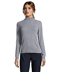 Magaschoni Women S Cashmere Turtleneck Sweater X Small Grey Melange