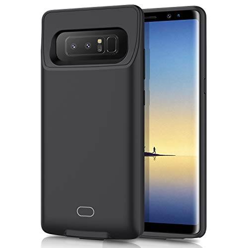 HETP Galaxy Note 8 Battery Case 7000mAh Portable Rechargeable External Battery Pack for Samsung Galaxy Note 8 Charger Case for Note 8 Protective Charging Case - Black (Samsung Galaxy Note 3 Extended Battery Slim)