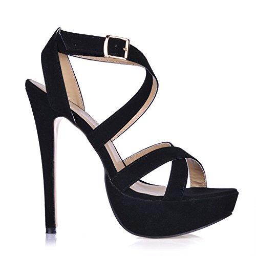 terciopelo zapatos La sandalias estilo tacón escritorio de las de agua primavera negro de de la niña nuevo tienda com alto de con con grqgw1aSx