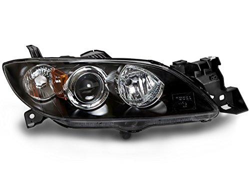 Headlights Depot Replacement for Mazda 3 4-Door Sedan New Passenger Side Headlight -