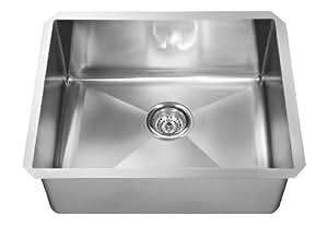 ECOSINKS ECOS-3010UP Acero Platinum Combo Undermount 0-Hole Single Bowl Kitchen Sink, Stainless Steel