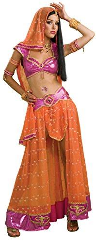 Secret Wishes Sexy Bollywood Dancer Costume, Pink/Orange, Large