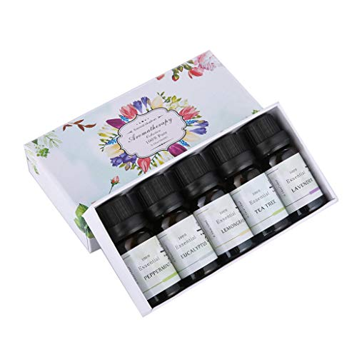 Hisumh 5PC10ML/Box Essential Oils Natural Aromatherapy Oils Choose Fragrance Aroma Flo