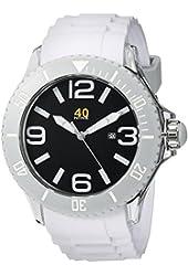 40Nine Men's 40NINE01/WHITE Extra Large 50mm Analog Display Japanese Quartz White Watch