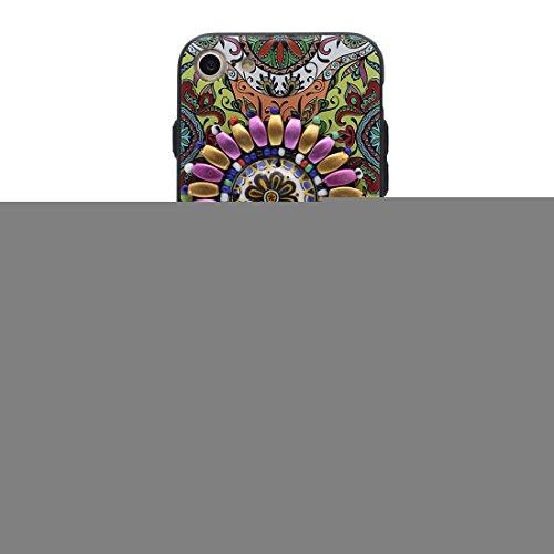 Coque iPhone 7 Plus, [TPU Flexible caractéristiques nationales] iPhone 7 Plus étui Cover (5.5 pouces), iPhone 7 Plus Case, anti- chocs- 3D Bead fleur Style national ring Support perceptible