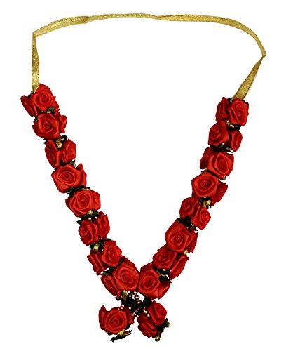 Indian Garland Haar Mala for Idol of 8 Inches to 1 Foot /Frame Red - Male Frame
